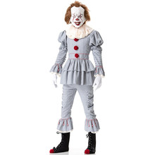 Clowns Costume Scary Halloween Costume for Women Joker Stephen King's It Pennywise Costume Clowns Suit Fancy Party Prop Outfit
