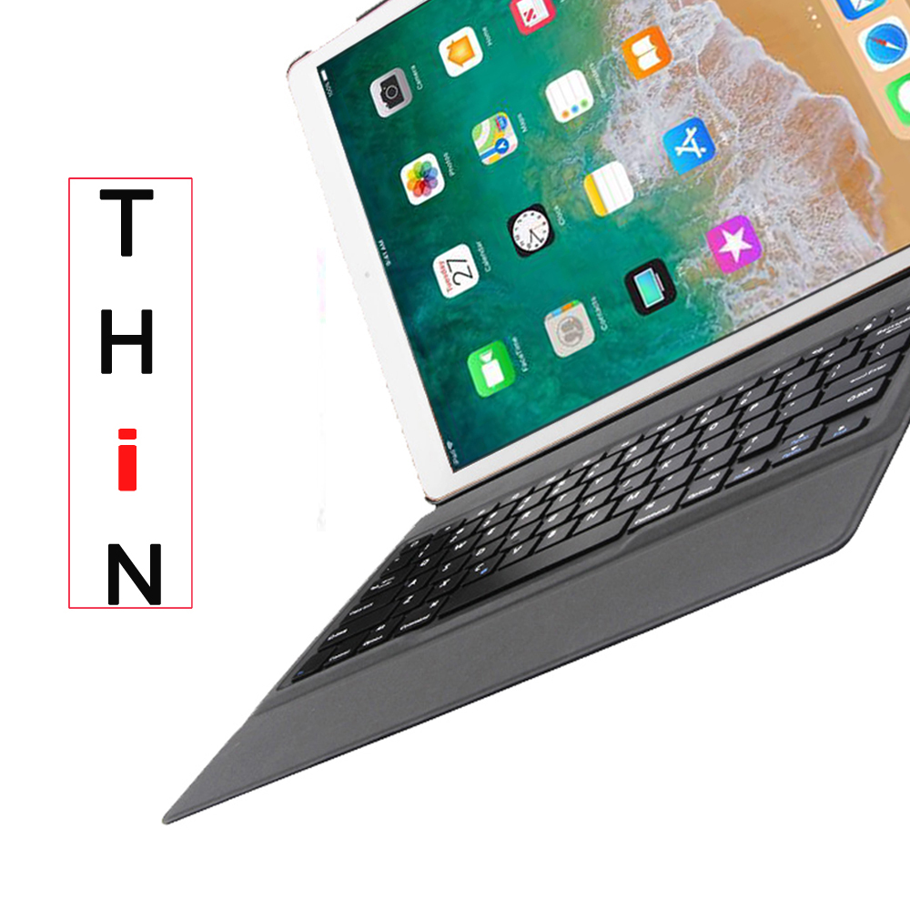 Ultra Thin Keyboard Case for iPad 9.7 2018 6th Generation A1893 A1954 Slim Pu Leather Smart Bluetooth Keyboard Cover +Film + Pen