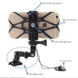 Image 3 - טלפון מחזיק אופנוע קסדת סנטר Mounts מעוקל דבק הר 360 תואר רוטרי רכיבה על הר עבור iPhone x 7 huawei xiaomi