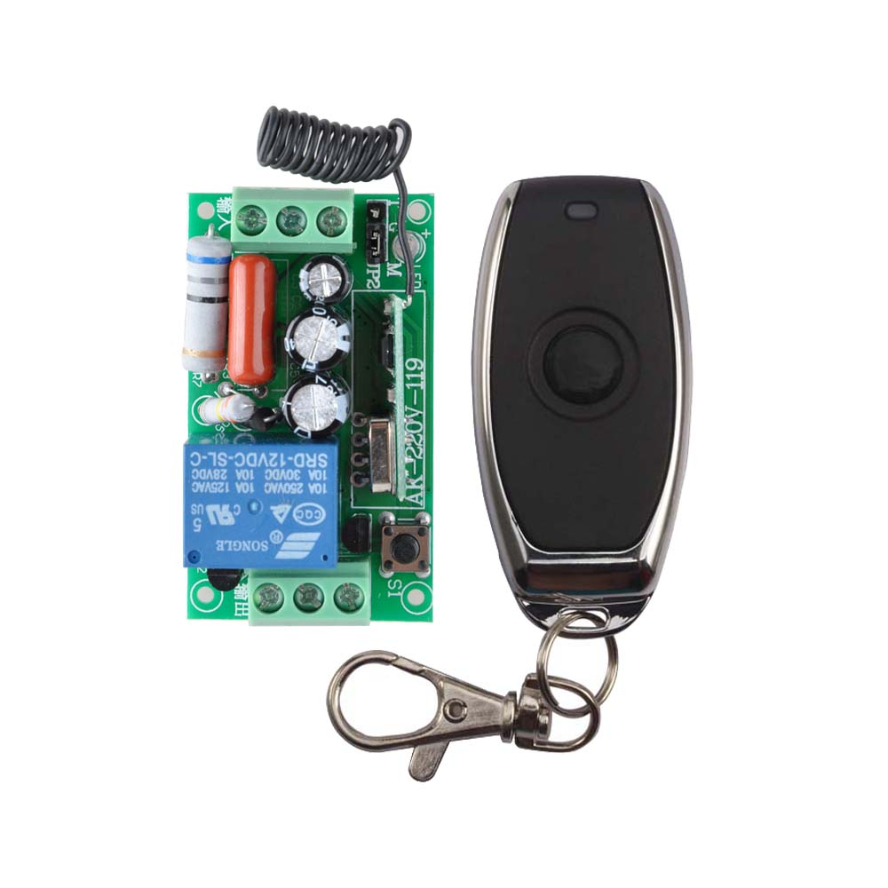 цены AC 220V 1CH 10A Relay RF Remote Control Switch wireless Light Switch Remote Switch Receiver Transmitter COM NO NC
