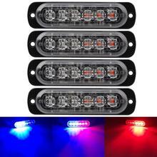 Warning Emergency Blue&white Caution light Flash Strobe Light Bar Surface Mount led For Car Van Truck Jeep Pickup Motorcycle