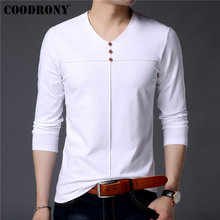 COODRONY Long Sleeve T Shirt Men Streetwear Tshirt 2019 New Arrival Casual Henry Collar T-Shirt Cotton Tee Homme 95008