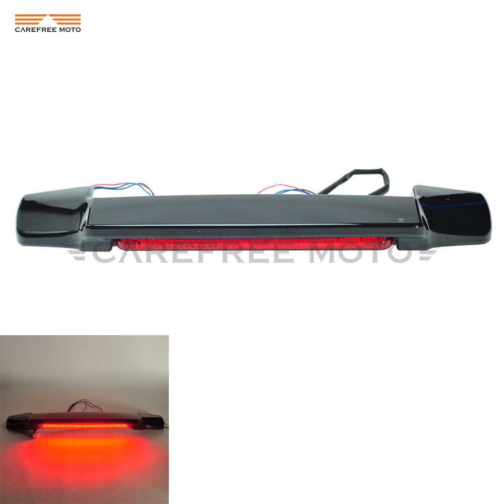 Red LED Tail Light Spoiler Motorcycle Rear Light case for Harley Touring Electra Glide Chopped King