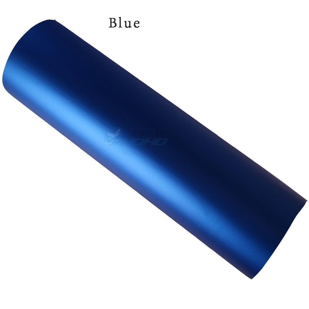 Синий авто Стайлинг тела электро покрытие изменение цвета пленка хромирование Атлас хром винил обертывание наклейка 1,52X5 м