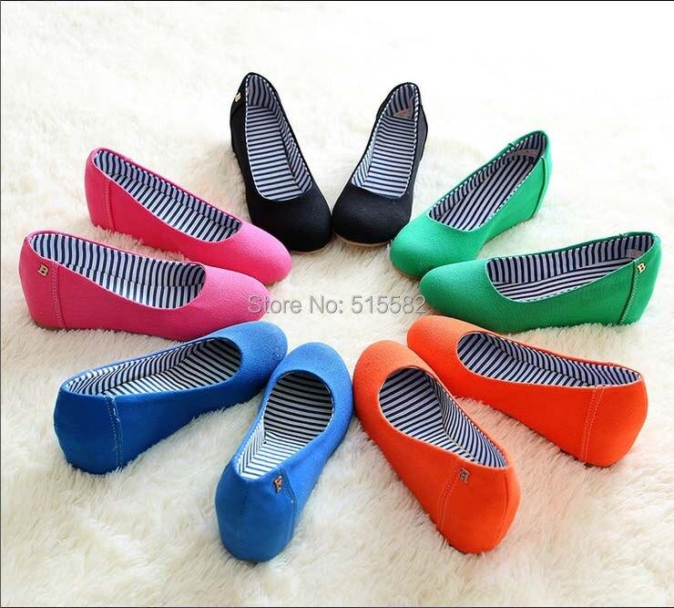 2016 nueva moda lienzo de cuña oculta alpargatas women shoes slip on de los holgazanes ocasionales