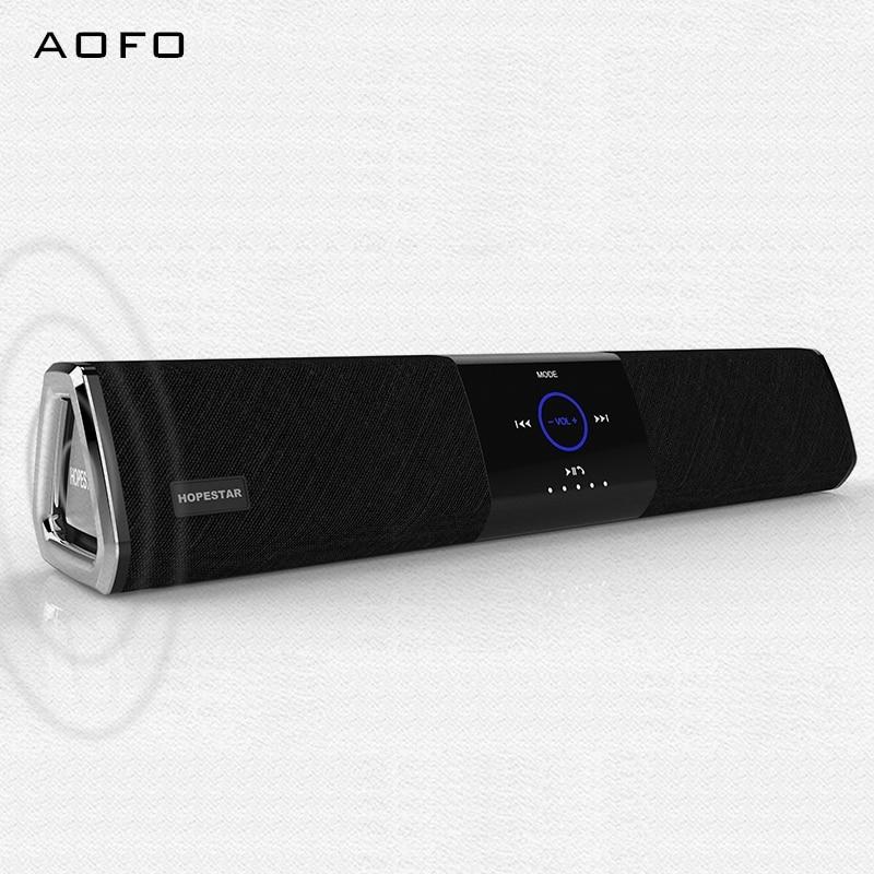 AOFO haut-parleur de batterie externe mains libres Portable haut-parleur Bluetooth avec barre de son stéréo de haute qualité, prise en charge de la carte Tf AUX USB