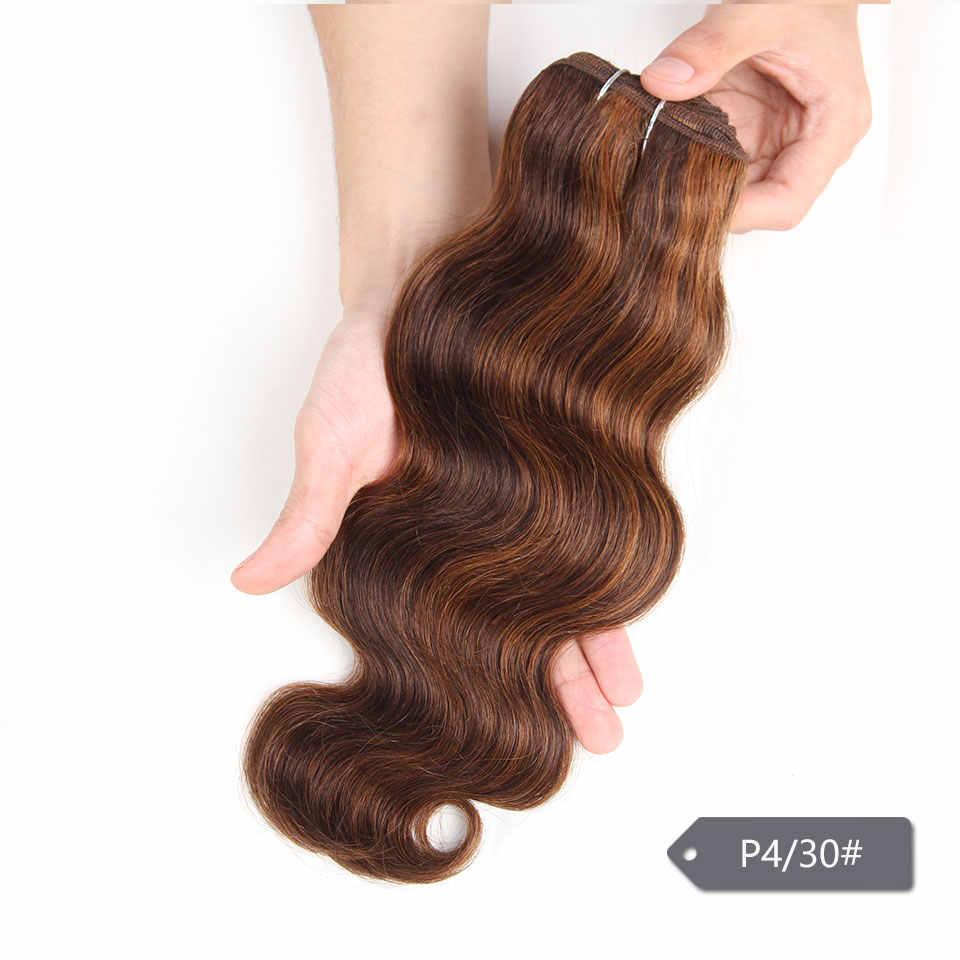 Sleek Remy Brasilianische Menschliches Haar Bundles Schuss 100g Körper Welle Ombre T1B-30 99J Burgund Rot Braun Haar 1 Stück nur Freies Verschiffen