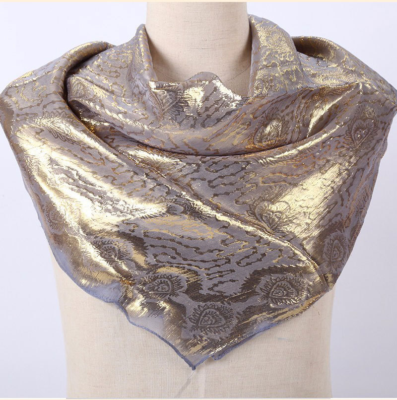 Factory Outlet Silk Jacquard Scarf Muslim Square Hijabs Shawl Ethnic Ultralight Foulard Hijab  Islamic Women's Accessories