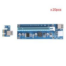 2017 neue Version Riser Card USB 3.0 20 stücke PCI-E Express 1X zu 16X Extender Riser-karte SATA 6 Pin Stromkabel Für Bitcoin Miner