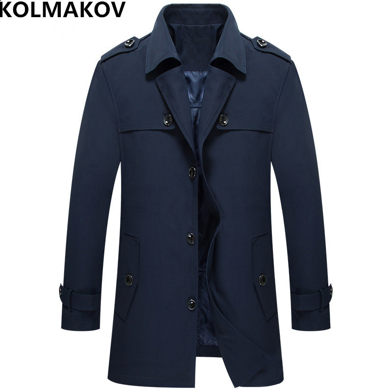 KOLMAKOV New Spring Men's   trench   Coats 2019 Brand Mens Fashion casual jacket Homme slim fit man Outerwear coat plus size M-4XL