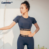 Yoga Sets Fitness Jumpsuit Sportswear Women Yoga Suit Women Gym Leggings And Cropped Top Work Out Sport Suit Femme