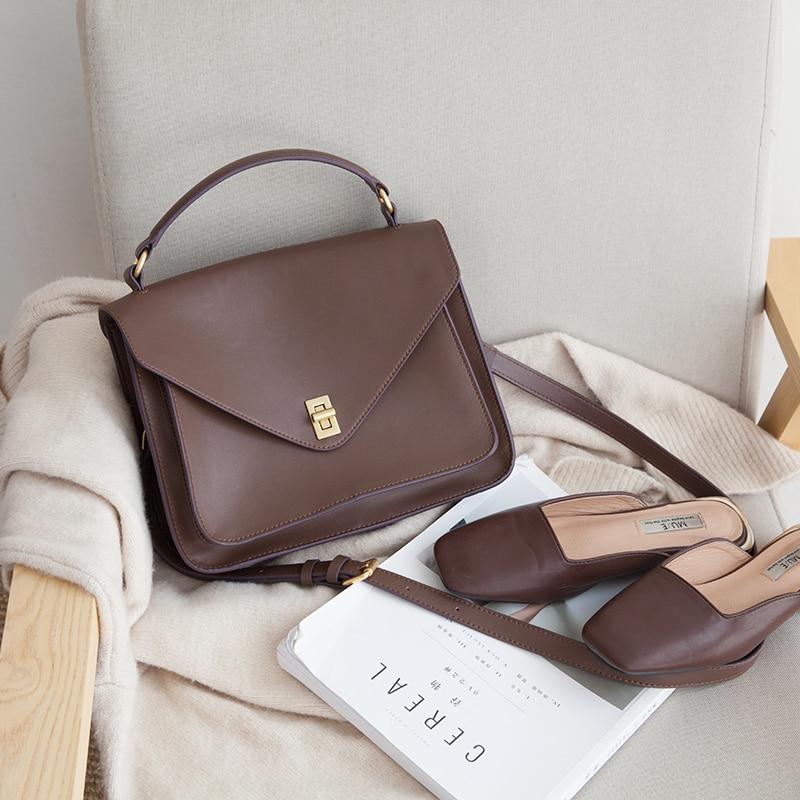 VENOF luxury handbags women bags designer split leather messenger bags elegant ladies shoulder bag crossbody bag