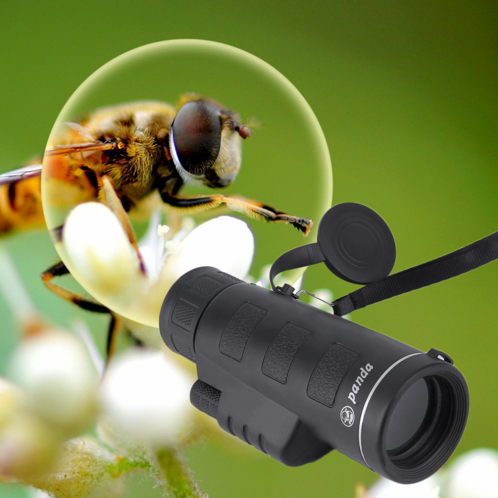 Day&Night Vision 40X60 HD Optical Monocular Hunting Camping Hiking Telescope free shipping