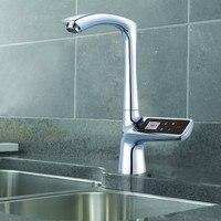 Pantalla LCD de Pantalla Táctil Inteligente Termostato Mezclador Grifo Del Fregadero Grifo Eléctrico Grifo Termostato Digital