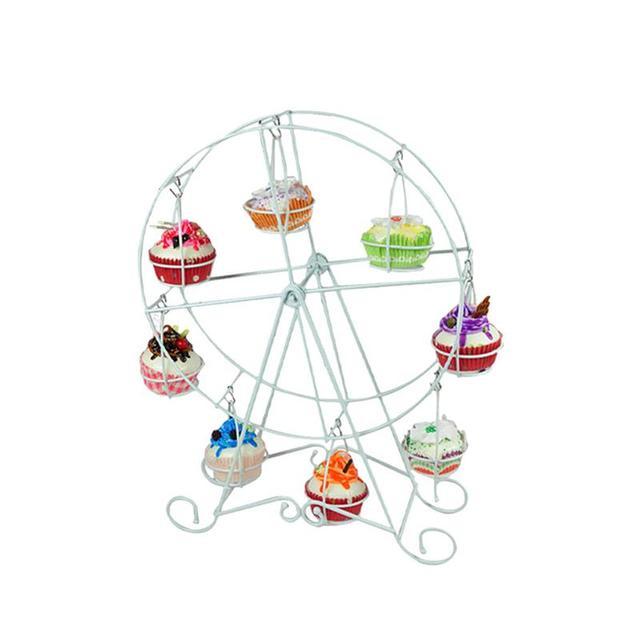 8 Cups Cake Ferris Wheel Display Stand Cupcake Holder Dessert