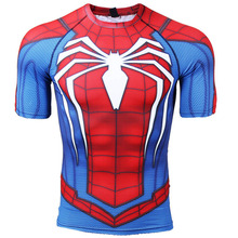 New Summer 3D Iron Spiderman T Shirt Men Marvel Avengers T-Shirt Compression Gym Short Sleeve Brand Tee Tops&Tees