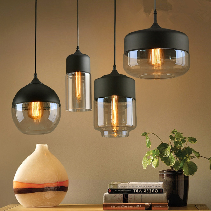 Nordic Modern Loft Hanging Lights Glass Chandelier Lamps Led Chandelier Kitchen Restaurant Aisle Bar Living Room Bedroom