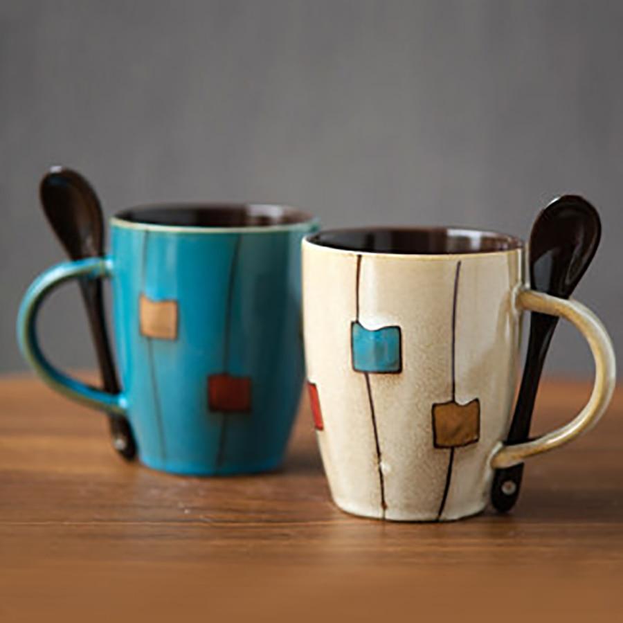 Taza de café o té de cerámica elegante Cappuccino tazas de cerámica creativa Simple leche beber lindo Para café vajilla beber hogar 5B031