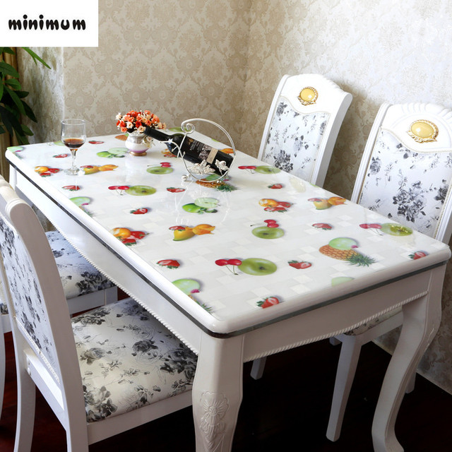 PVC Table Mats Soft Glass Crystal Plate Transparent Fruit Coffee Table  Cloth Coffee Mats 1.5mm