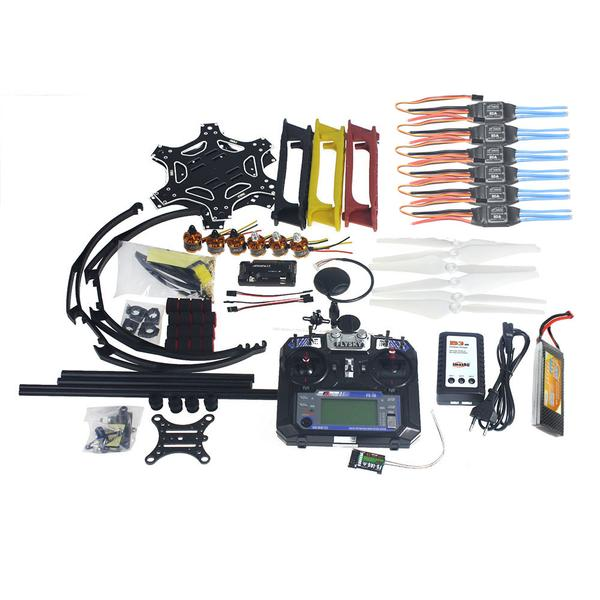 Full Set RC Drone Aircraft Kit F550 Hexa-Rotor Air Frame GPS APM2.8 Flight Control Camera Gimbal PTZ F05114-AV vc 36a free shipping terminal wire cutting pliers hand tool