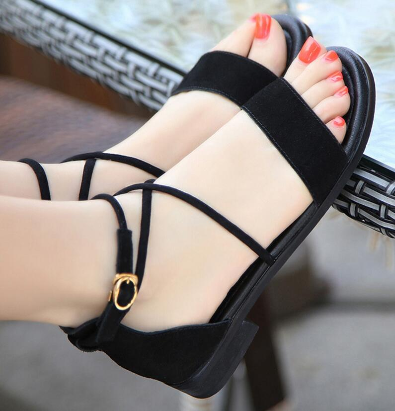 woman summer flat sandals open toe Zapatos Mujer sapato female girls office ladies footwear women flats casual PU shoes F180195 cresfimix zapatos women cute flat shoes lady spring and summer pu leather flats female casual soft comfortable slip on shoes