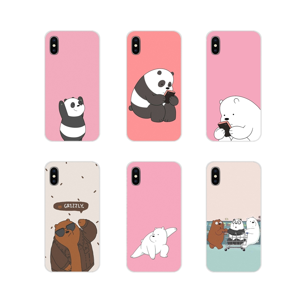 Accessories Phone Cases Covers We Bare Bear For Motorola Moto X4 E4 E5 G5 G5S G6 Z Z2 Z3 G G2 G3 C Play Plus