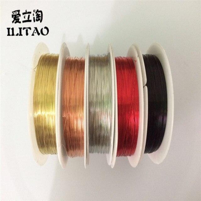 0,3mm 20 Mt/Roll Farbe Kupferdraht Kugel Diy Armband Ohrring Machen ...