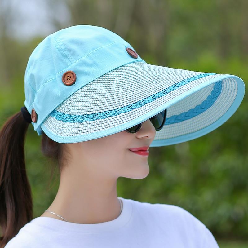 COKK Sombreros Mujeres Gran Ala Ancha Grande Playa de Verano Sombrero - Accesorios para la ropa - foto 2