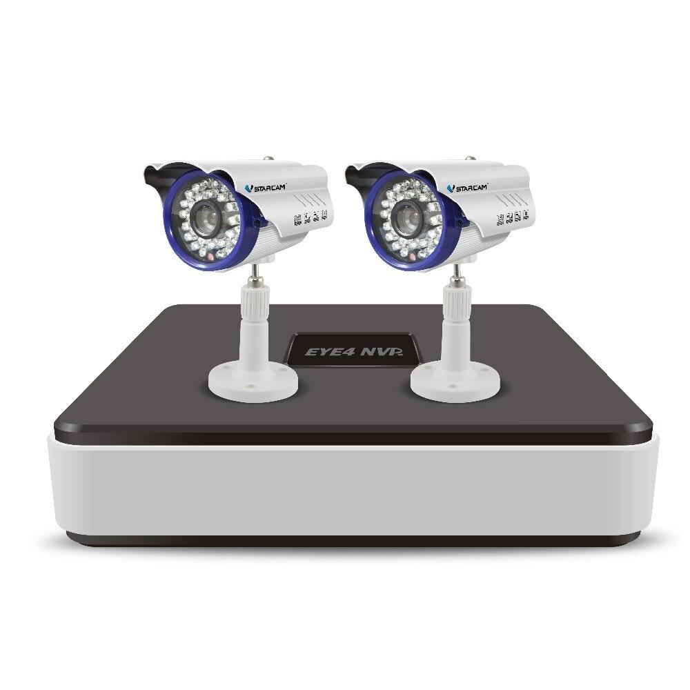 Vstarcam 4CH 720 p NVR Système de Caméra de Sécurité 2 pcs IP Extérieure Caméra CCTV Surveillance Kit 1 NVR 4CH + 2 pcs C7815WIP