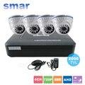 Cctv de 4 canales ahd ahd-m dvr p2p hdmi h. 264 Hybrid DVR Kit Sistema de Video Vigilancia 720 P AHD Cámara Domo Día y Noche IR-CUT