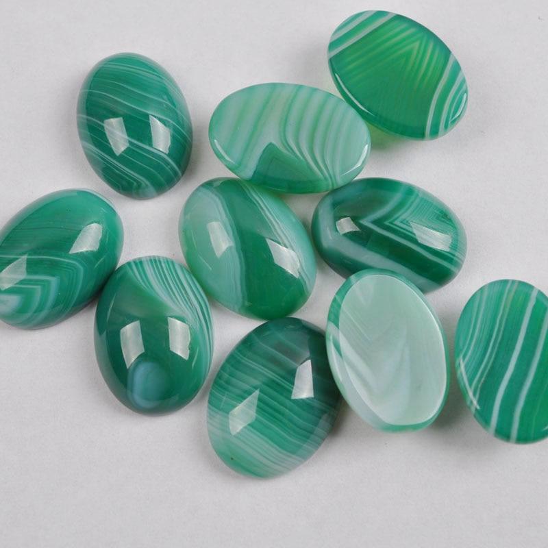 18x13MM Green Veins Carnelian Oval CAB GEM Cabochon Jewelry Bead (10 pcs/lot) H015