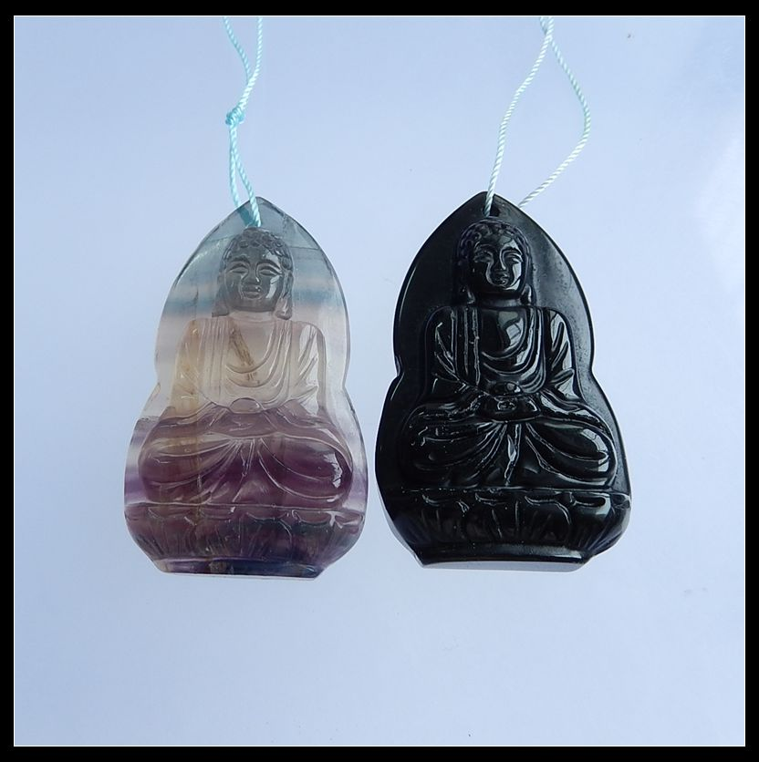 Wholesale 2Pcs Natural Stone Flourite Carved Guanyin head Front Drilled Fashion Necklace Pendants 51x31x10mm 50.99gWholesale 2Pcs Natural Stone Flourite Carved Guanyin head Front Drilled Fashion Necklace Pendants 51x31x10mm 50.99g