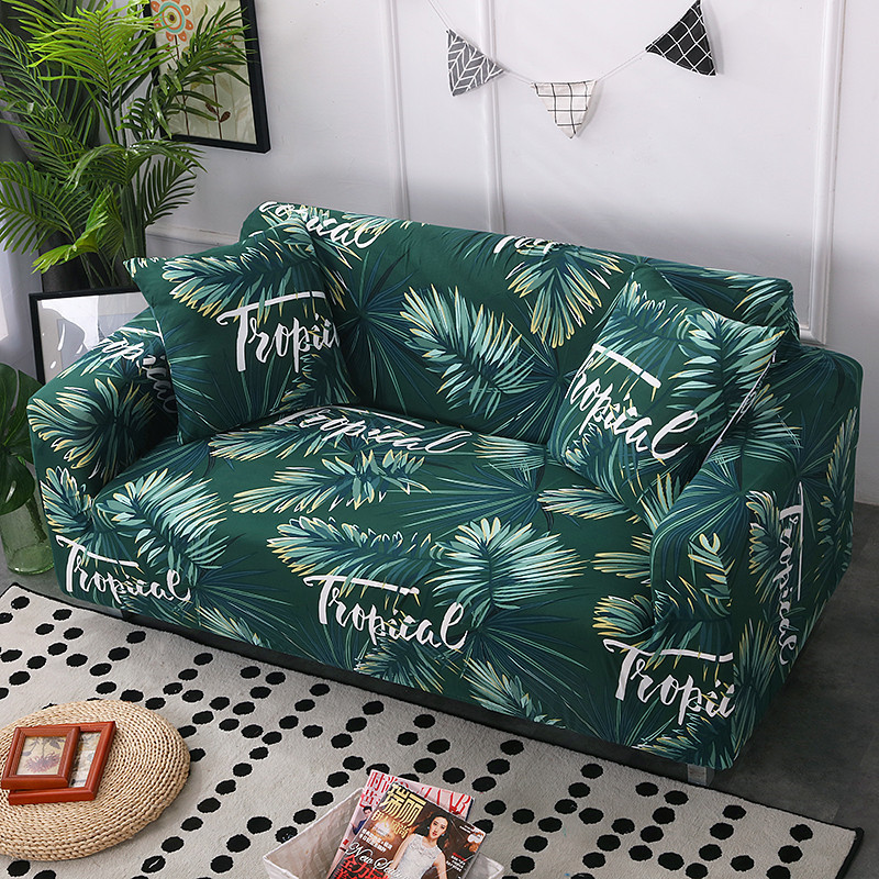 Stretchable Sofa Cover with Elastic for Sectional Couch Protects Sofa from Stains Damage and Dust 19