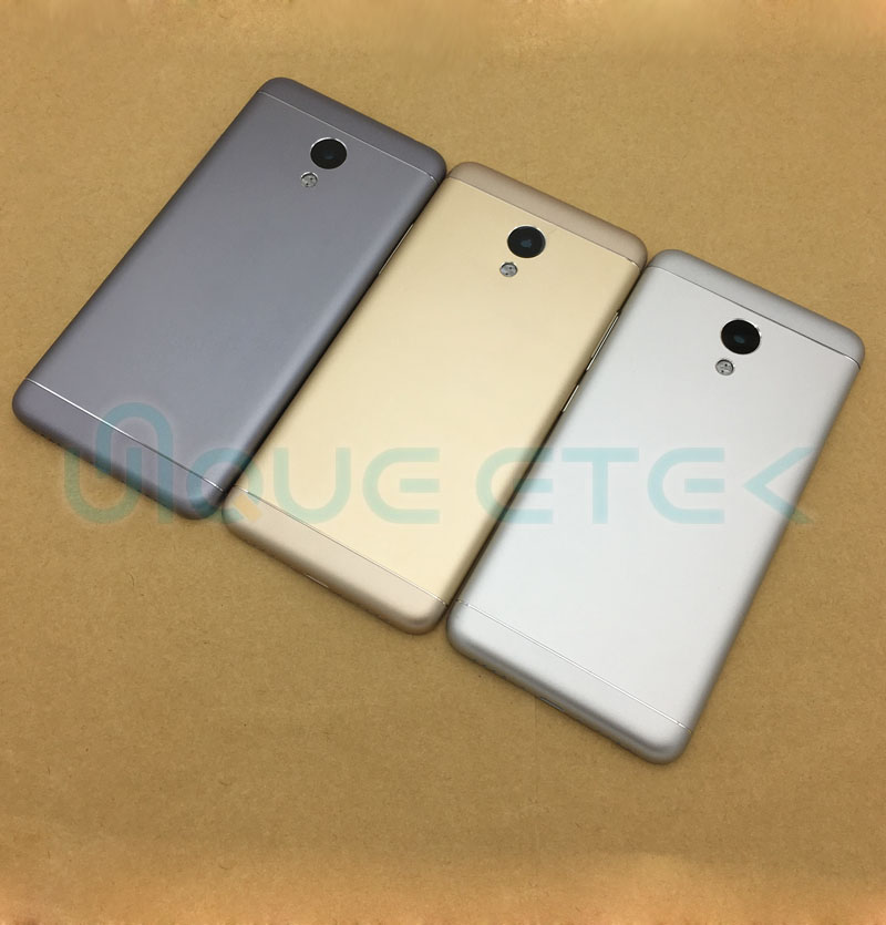 Original New For MEIZU M3s M 3S Battery Door Back Cover Housing Case With Camera Lens+Power Volume Buttons With Logo