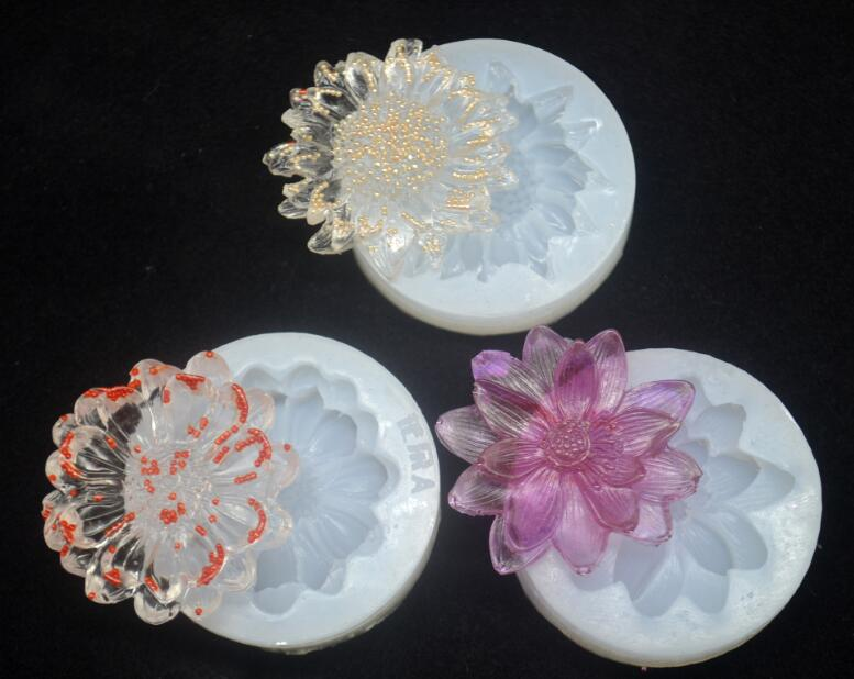 3 Style Flower Silicone Molds Epoxy Resin Jewelry Pendant Mould Making Craft Mold Tools Handcraft Accessories Finding
