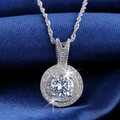 Effie Queen Fashion AAA Austrian Crystal Platinum Plated Necklaces Round Little Pendant Necklace Wholesale WHN87