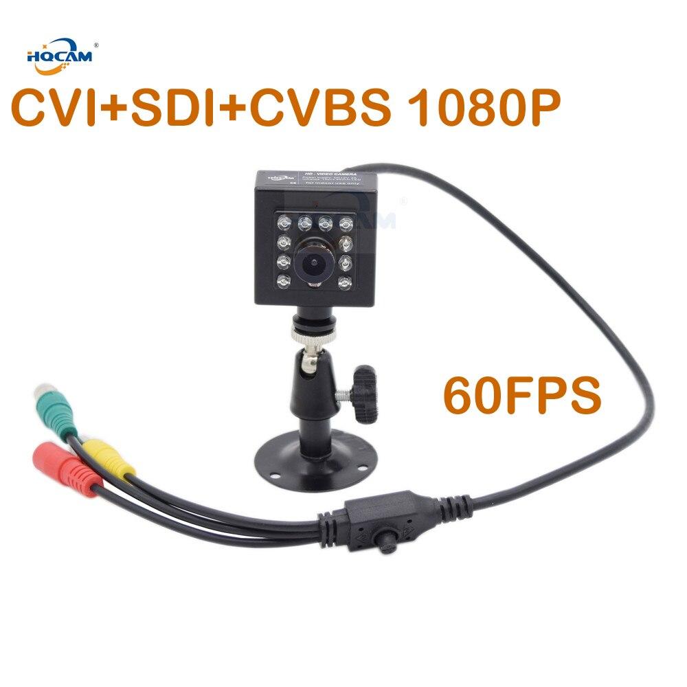 HQCAM 50fps 60fps ночное видение CVI + SDI + CVBS 1080 P SDI IR камера потолочная камера 1/3 дюйма 2.1MP датчик Панасоник Mini SDI камера