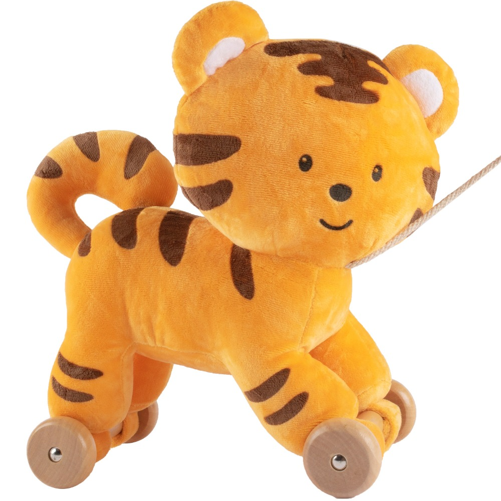 itty-bitty 30*23cm Baby Toy Rattle Cute Animal Soft Stuffed Take the Lead Learning Walking Baby Toys For Girls and Boys