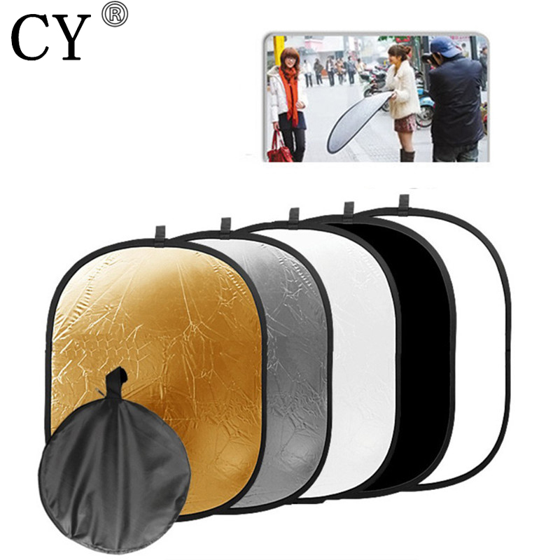 90x120cm 5in1Handheld Portable Collapsible Light Oval Photography Reflector Studio Multi Disc Photo Studio Accessories