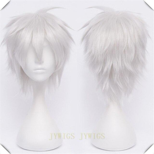 Pelucas de pelo corto blanco