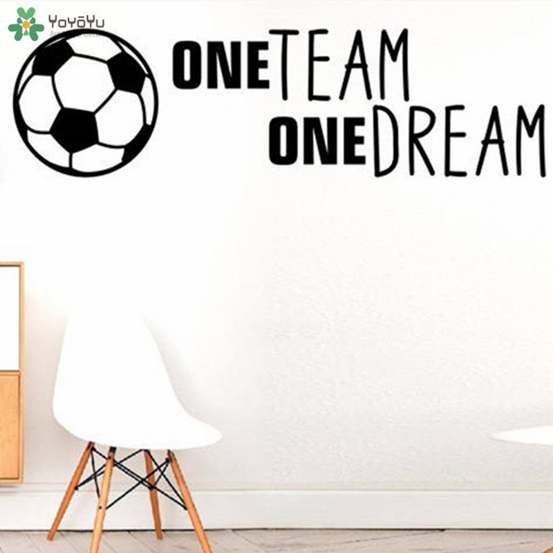 Yoyoyu Wall Decal Football Quote One Team One Dream Vinyl Wall