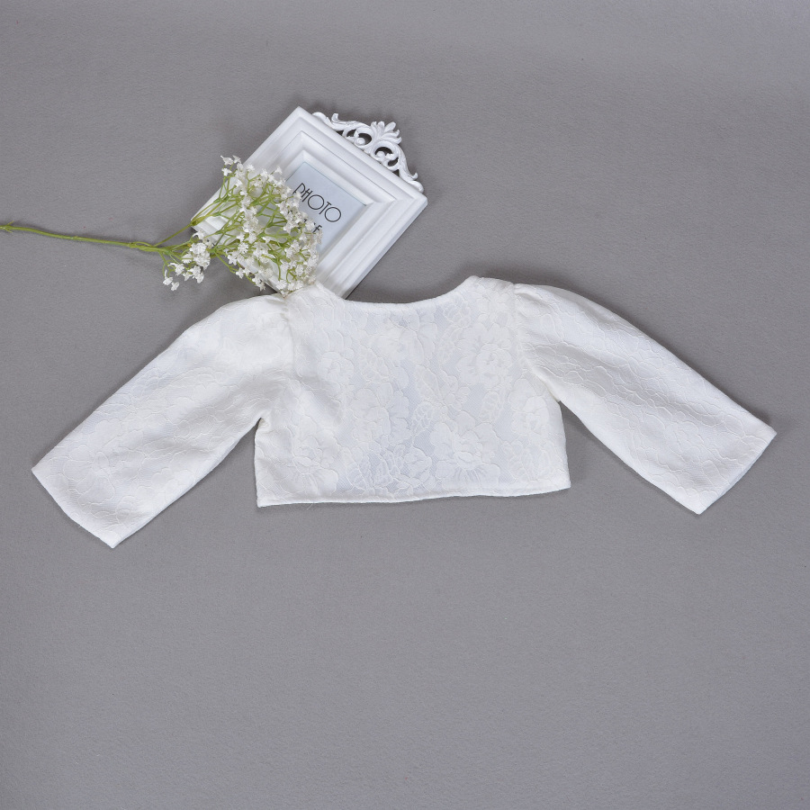 dce746c2d Aliexpress.com   Buy Newbron Children Dress Shawl Ivory Coat Girls ...