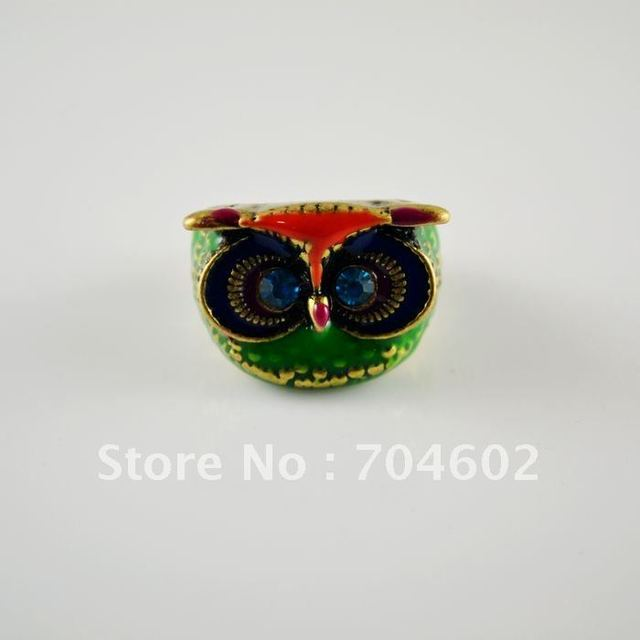Owl Ring Colorful  Ring Wholesale Finger Rings Hot Sale Jewelry  Freeshipping