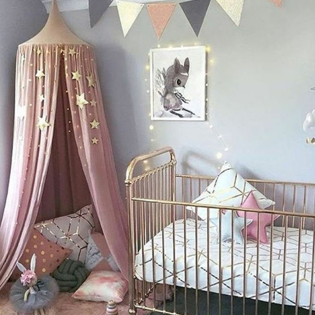 Baby Bedding Kids room Colorful wall decoration nets angle stars hanging ornaments adornment infant bed sets 250cm