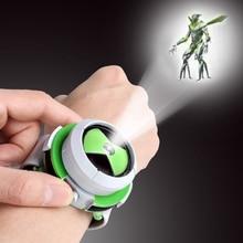 Горячая Бен 10 стиль Япония проектор часы бан дай подлинные игрушки для детей дети слайд шоу ремешок для часов падение