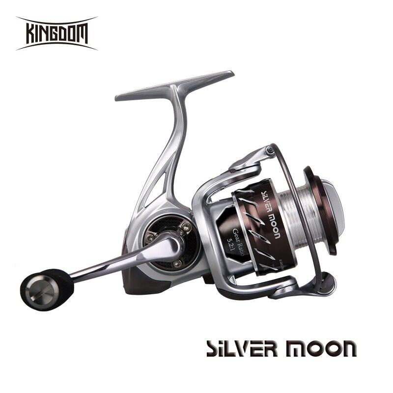 Kingdom Fishing Reels Spinning Saltwater 10+1 BB 5.2:1 226 g 295 g High Speed Carbon Fiber Fishing Reel carp model silver moon