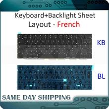 Новый MacBook Pro 13,3 «retina A1706 Французский клавиатура AZERTY FR ЕС ж/Подсветка поздно 2016 Mid 2017 MLH12 MPXV2 EMC3071 EMC3163