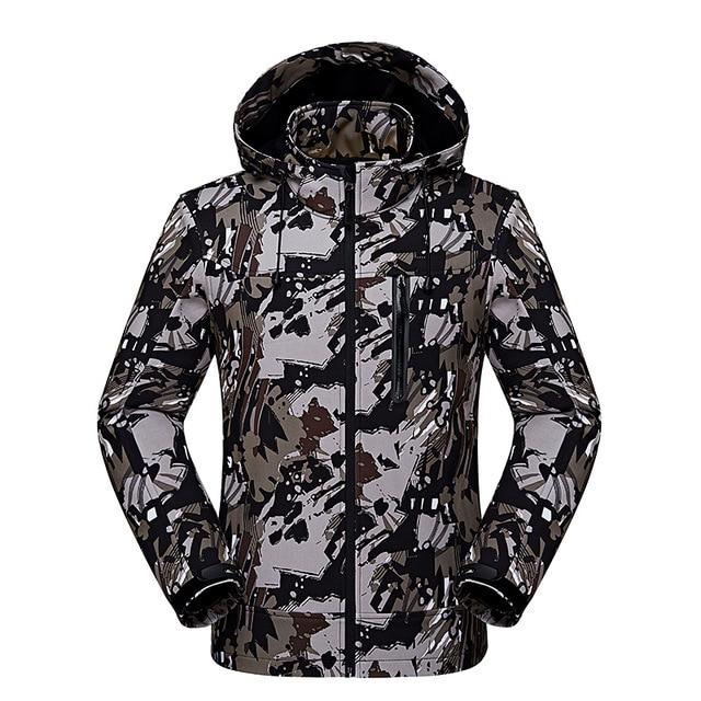 big sale 58a0a caa9b US $34.24 20% OFF|Männer Camouflage Softshell Jacke Outdoor Wanderjacken  Winddicht Wasserdicht Männlich Camping Regen Windjacke Mantel in Männer ...