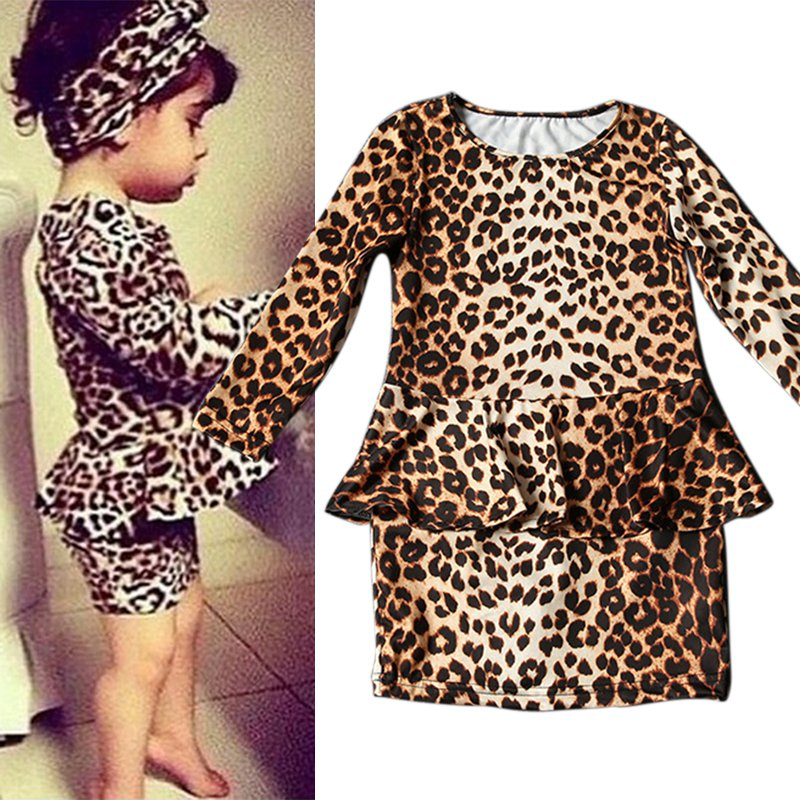 2e7c7ee8aecd 3 10Y Children Baby Girls Leopard Printed Mini Short Dress Kids Party  Casaul Cloth Girls Cloth-in Dresses from Mother & Kids on Aliexpress.com |  Alibaba ...