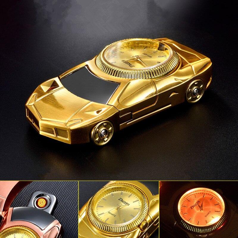 Dae Car Cigarette Lighter Gold Plating Car Model Windproof